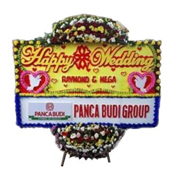 Bunga Papan Happy Wedding 4